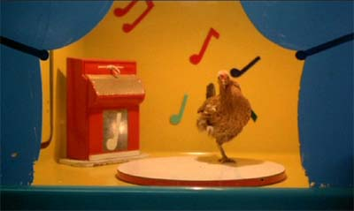 A dancing chicken in Stroszek (1977).