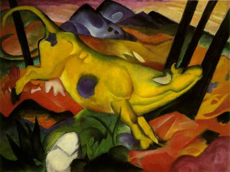 Yellow Cow, 1911, Franz Marc